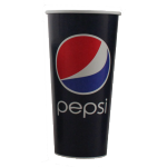 Pepsi, Cold cup-beker, Karton/Coating, 400ml, 16oz, 128mm, blauw/Rood